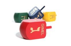 Colourful Dreidel Toys stock photos