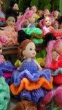Colourful dress dolls Royalty Free Stock Photos