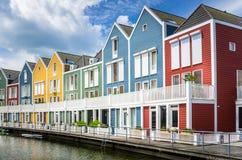 Colourful Drewniani domy obraz stock