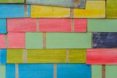 Colourful drewniani tła Obraz Stock