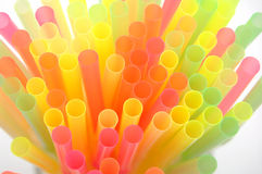 Colourful drinking straw Royalty Free Stock Photography