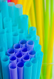 Colourful drinking straws Royalty Free Stock Photo