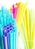 Colourful drinking straws Royalty Free Stock Photos