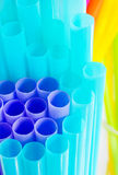 Colourful drinking straws. Close-up of colourful drinking straws , can be used for background Stock Photos