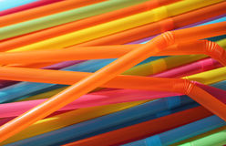 Colourful Drinking Straws Stock Photos