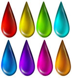 Colourful droplets Royalty Free Stock Photo