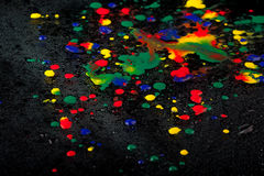 Colourful drops Royalty Free Stock Photos