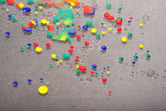 Colourful drops Stock Image