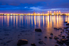 Colourful Durban Harbour South Africa. Durban harbour South Africa just before sunrise Royalty Free Stock Photo