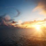 Colourful dusk over sea Stock Image