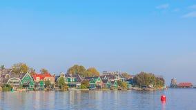 Colourful Dutch townhome at Zaaneschans. The Netherlands Stock Photography