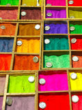 Colourful dyes. For sale in an Nepalese Market Royalty Free Stock Photos