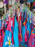 Colourful dziecka ` s lato Ubiera w sklepie Obrazy Stock