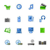 Colourful e-shop icons. On the white background Royalty Free Stock Image