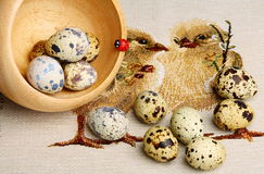 Colourful Easter eggs. Royalty Free Stock Photos