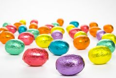 Colourful Easter Eggs royalty free stock photography
