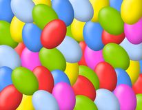 Colourful Easter Eggs Background Stock Photo