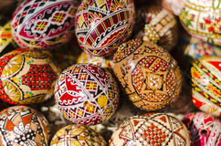 Colourful Easter eggs. Beautiful painted Easter eggs from Romania Royalty Free Stock Images