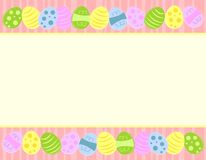 Colourful Easter Eggs Borders Stock Photo
