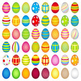 48 colourful easter eggs Royalty Free Stock Photo