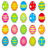 20 colourful easter eggs Royalty Free Stock Photography
