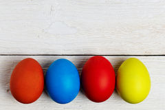 Colourful easter eggs isolated on white Stock Image