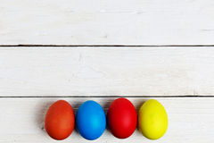 Colourful easter eggs isolated on white Stock Photography