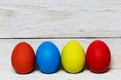Colourful easter eggs isolated on white Royalty Free Stock Photos