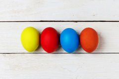 Colourful easter eggs isolated on white Stock Photos