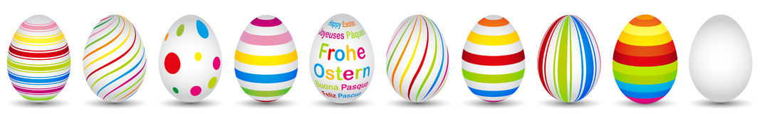 Colourful easter eggs in modern design Stock Photo