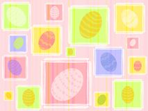 Colourful Easter Eggs Pattern Background Royalty Free Stock Photos