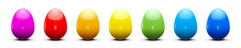 Colourful easter eggs Royalty Free Stock Images