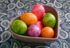 Colourful easter eggs Stock Photo