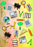 Colourful Education Pattern Royalty Free Stock Images