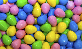 Colourful egg shaped candies Stock Images