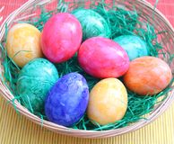 Colourful eggs Stock Photo