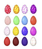 Colourful eggs vector Royalty Free Stock Photography
