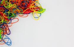 Colourful elastics Fotografia Stock