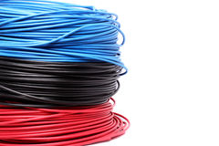 Colourful electric cable Royalty Free Stock Photos