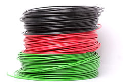 Colourful electric cable Stock Photography