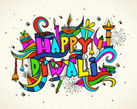Colourful elements for Diwali Celebration. Royalty Free Stock Photo