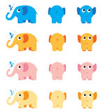 Colourful elephants Royalty Free Stock Image