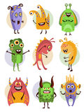 Colourful Emotional Cartoon Monsters, Vector Stock Photos