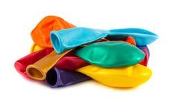 Colourful empty balloons Stock Photos