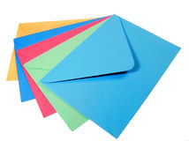 Colourful envelopes Stock Image