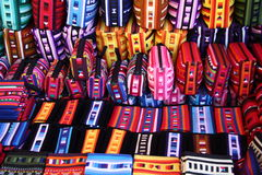 Colourful Ethnic Hilltribe Bags Royalty Free Stock Photo
