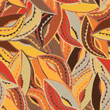 Colourful ethnic pattern with the motifs of a dance shield of the Kikuyu people of central Kenya. Colourful ethnic pattern in earth tones with the motifs of a Royalty Free Stock Photos