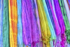 Colourful etnic scarves obraz stock