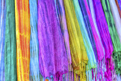 Colourful etnic scarves Stock Image