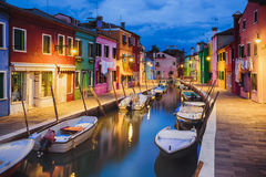 Free Colourful Evening Houses On Burano Island, Venice Stock Image - 76670461